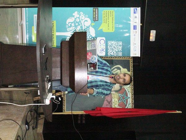 Conférence lors de la COY12 (Conference of Youth) à Marrakech.