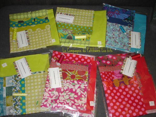 Quelques kits pour faire des housses aux couleurs de la Compagnie ...