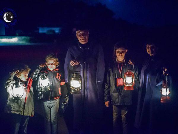Paul, Margaux et Marie avec les Conteurs de la Nuit.