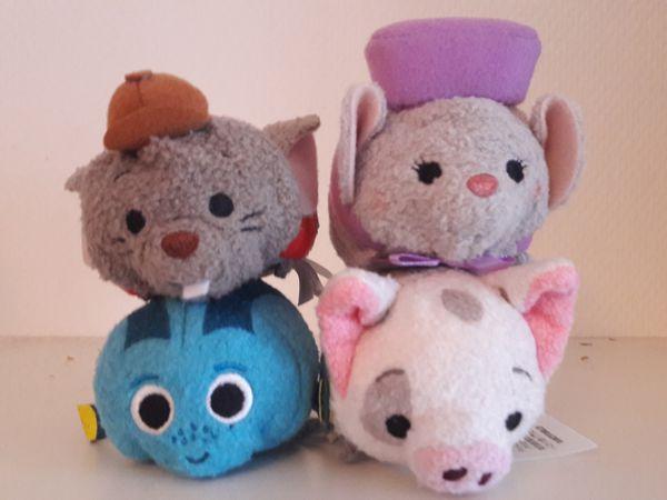 Bernard, Bianca, Dori version Japon et Pua&#x3B; 2 minis squeeze: Lapin d'Alice et Stich&#x3B; Sheer Kan