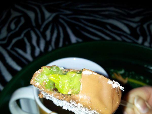 Sucette de kiwis au chocolat