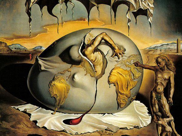 Ces tableaux sont trois des grandes oeuvres de Dali: La persistance de la mémoire, Le sommeil et l'Enfant géopolitique observant la naissance de l'homme nouveau
