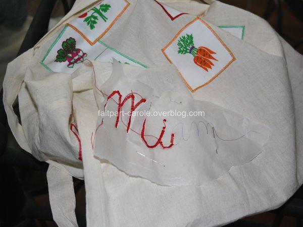 sac de courses tissu Miam