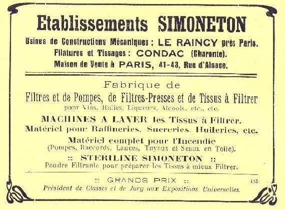 """Au lieu dit """"le Moulin Enchanté"""" en Charente   http://patrimoine-de-france.com/charente/condac/minoterie-filature-tissage-dit-etablissement-simoneton-filatures-et-tissage-de-la-charente-restaurant                                                                                                                       .http://patrimoine-de-france.com/charente/condac/minoterie-filature-tissage-dit-etablissement-simoneton-filatures-et-tissage-de-la-charente-restaurant-1.php"""