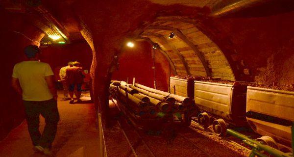 Galerie minière reconstituée