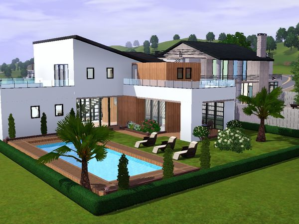 Sims 3 plan maison moderne joy studio design gallery for Maison moderne 69
