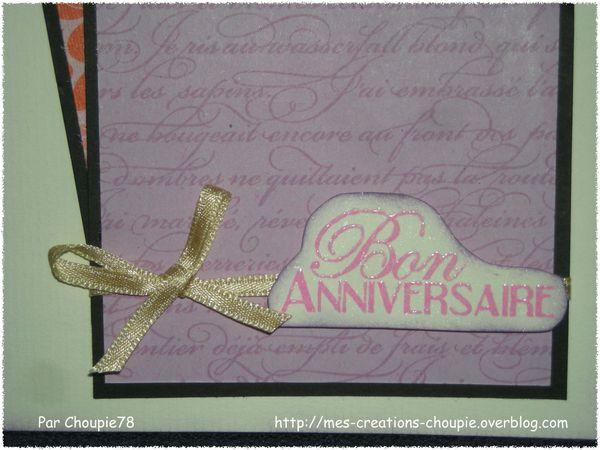 Carte anniversaire Labosyl