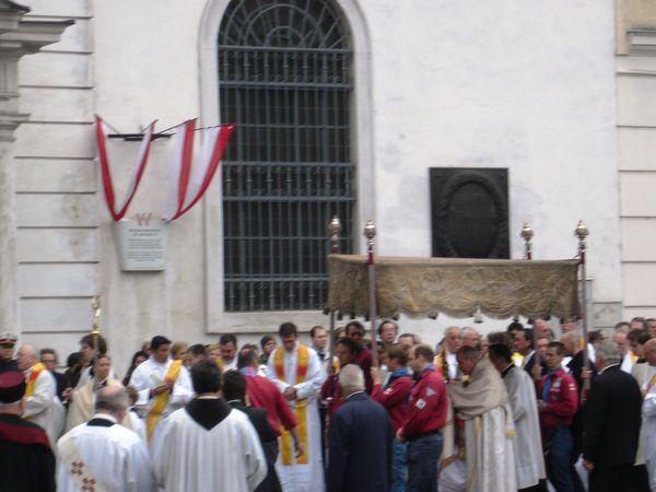La procession (partie religieuse)