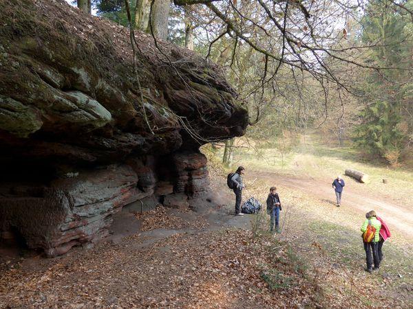 Le rocher de l'Ochsenstall, notre salle à manger du jour.