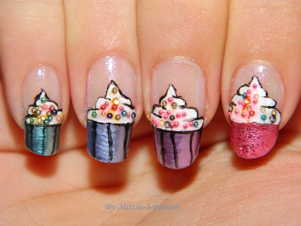 French Mirror - main droite : Cupcakes Sweet and Gum