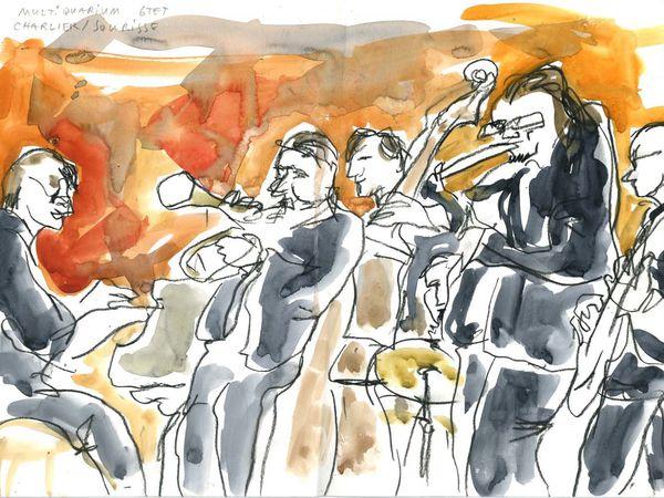 Charlier-Sourisse Multiquarium sextet (Ferté jazz festival, juin 2014)