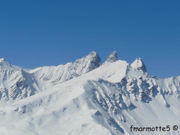 Sommet du Grand Plateau, Valloire, ski.