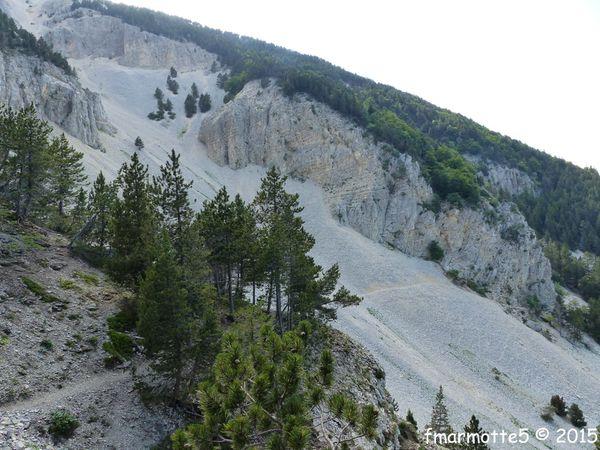 Eboulis, combes er ravins de la face Nord du Ventoux