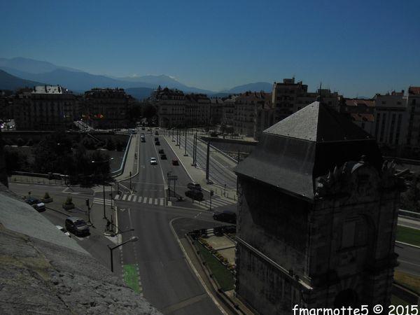 « Les prises de la Bastille», via ferrata, Grenoble.