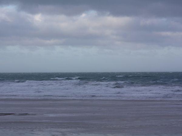 Tempête sur Cotentin se calmant cet après midi