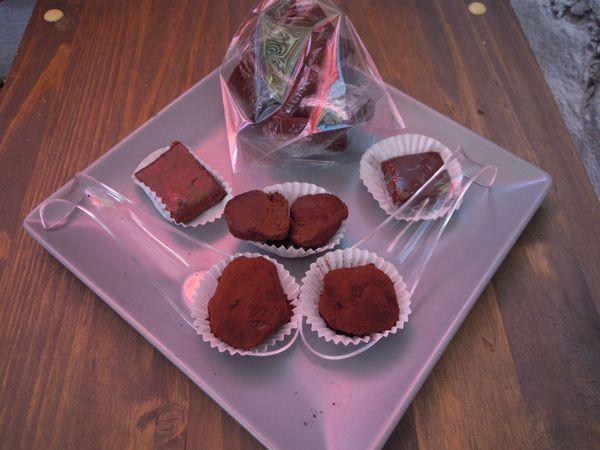Truffes au chocolat - Caramel beurre salé et chocolat