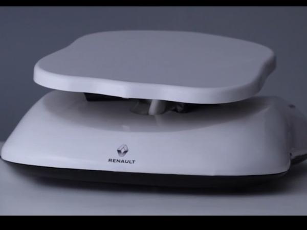 Renault invente un support siège d'auto pour endormir bébé à la maison &quot&#x3B;Baby Home Seat'&quot&#x3B;