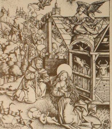 Maître E.S: gravures de Dresde et gravure du Louvre / Martin Schongauer: gravure de Bâle.