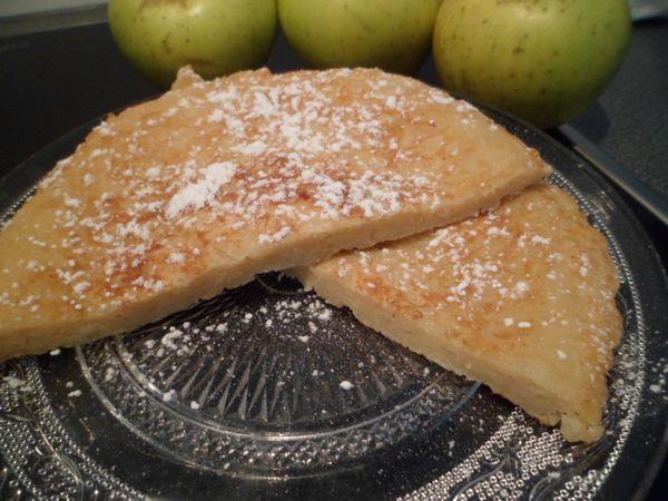 douceur aux pommes reinettes du vigan (crêpe épaisse)