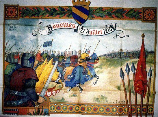Le souvenir de la bataiile est aussi célébré pour ce 800° anniversaire à Bouvine sen ce 27 Juillet 2014.
