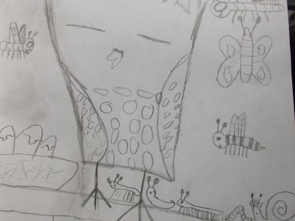 """Les dessins de mes petits enfants - les hiboux de Alban 7 ans (j'adore les détails !) et """"love"""" de Louise 11 ans (rose bien entendu)  Merci mes petits chéris, plein de gros bisous"""