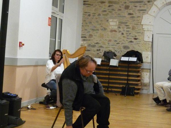 Georges-Alain Duriot, l'atelier vocal de Soundpainting,et Sylvain Roux, Michel Gendarme