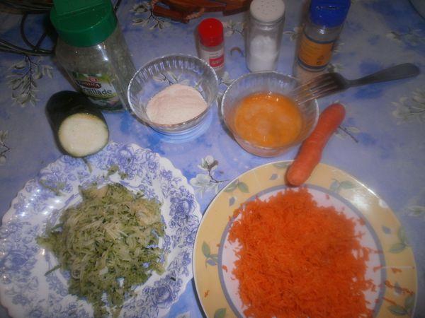 Recette de galettes de pomme de terre, carotte, courgette et parmesan