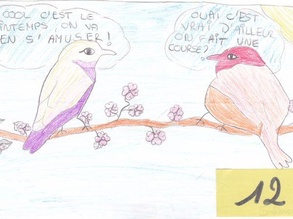 Résultat du Concours de dessins : Thème &quot&#x3B; Le Printemps&quot&#x3B;
