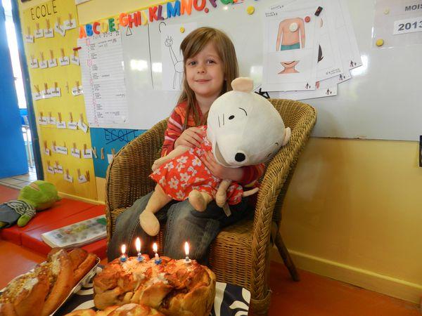 Aurore a 4 ans!