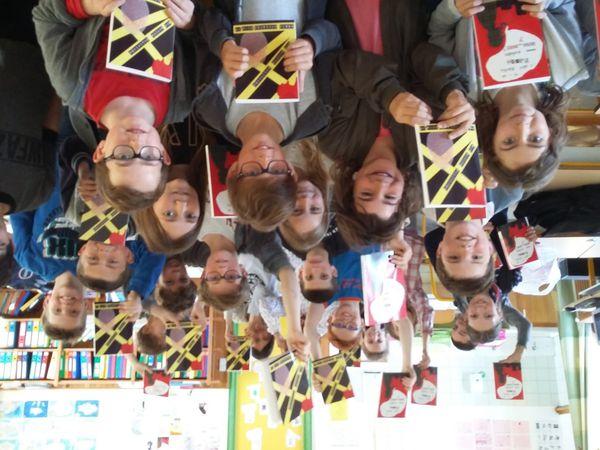 Merci à l'école Ange-Gardien Roscof avec Sandrine Cabon et ses élèves