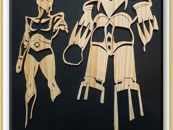 Actarus & Goldorak - fan art - Grendizer - YūfōRoboGurendaizā - DaisukeUmon - princedeuphor - fan art 80's