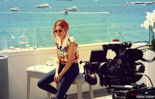 Lors du festival de Cannes, durant les entretiens sur Sils Maria.