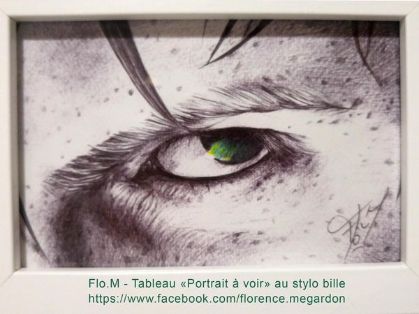 """""""Portraits à voir"""" dessins au stylo bille par Flo.M"""