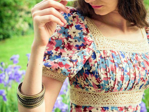 #robevintage #seventies #romanticdress