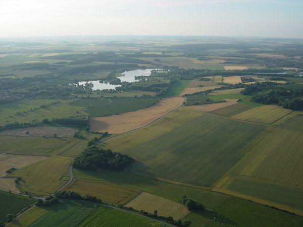 Dangu, ses étangs, son chateau et toujours la vallée de l'Epte, prise au retour.