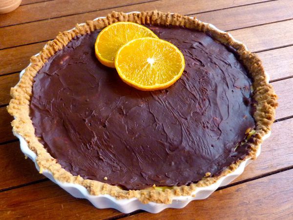 Tarte à l'orange (aux tangors) / chocolat