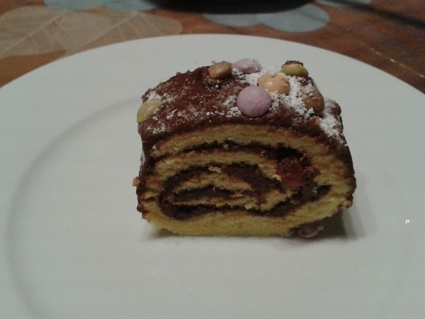Gateau roulé Nutella smarties
