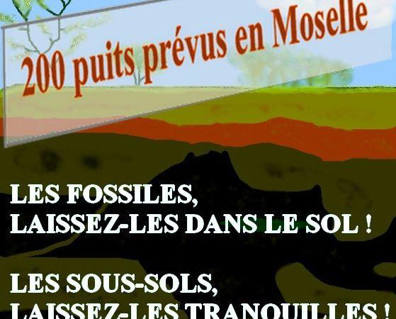 Thème de ce 6 janvier : le gaz de couche  en Moselle