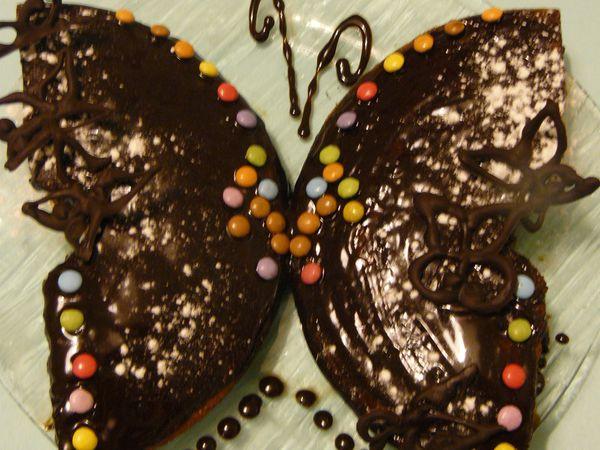gâteau au yaourt papillon