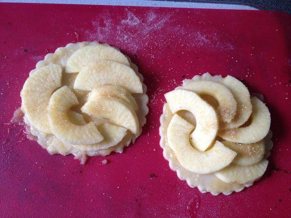 tarte au pommes et compote de pommes.