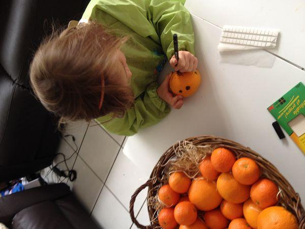 le panier de clémentines et d'oranges façon, l'etrange noël de monsieur Jack