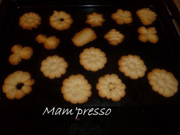 Sablés au presse-biscuit