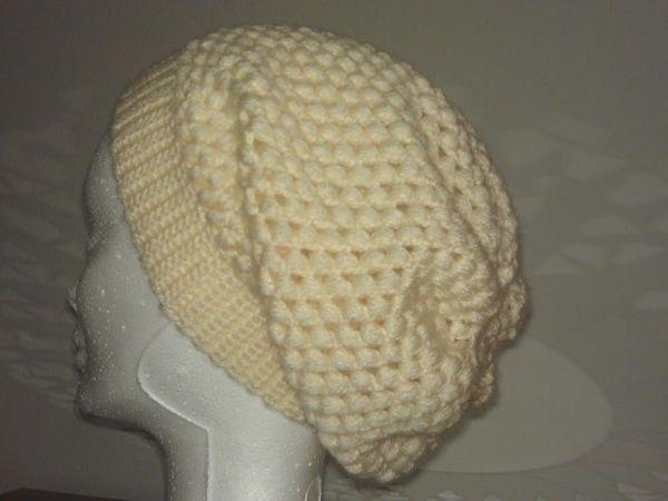 Bonnets écru &amp&#x3B; chocolat fait au crochet