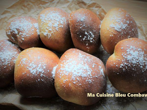 Beignets à la Farine de Pois Chiche (Cuisson au Four) fourrés à la Confiture Coco Chocolat- Les Saveurs de la Fournaise