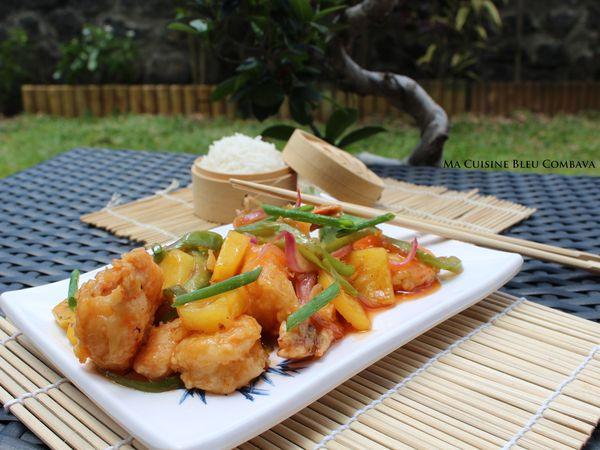 Crevettes Sautées Sauce Aigre Douce -Chine-
