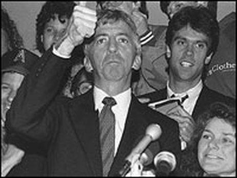 La 6 mars 1988, la grève des étudiants. En bas, dernière photo, Irving King Jordan.