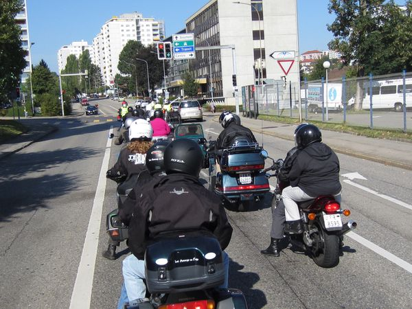 des motards en folie....