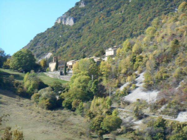 1- Village de Pommerol. 2- Rémi presque arrivé. 3- 1072 m le point culminant de la route.