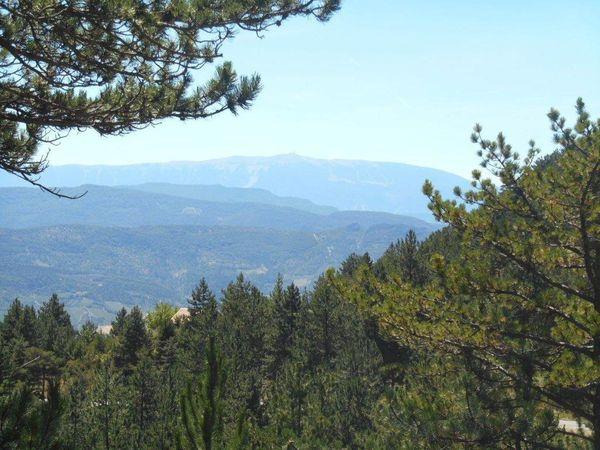 Côté sud la vue elle aussi est superbe avec en toile de fond le Mont Ventoux.