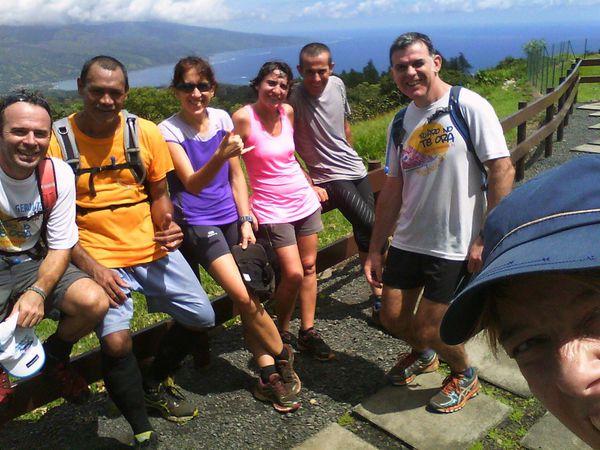 Entrainement au raid au plateau de Taravao